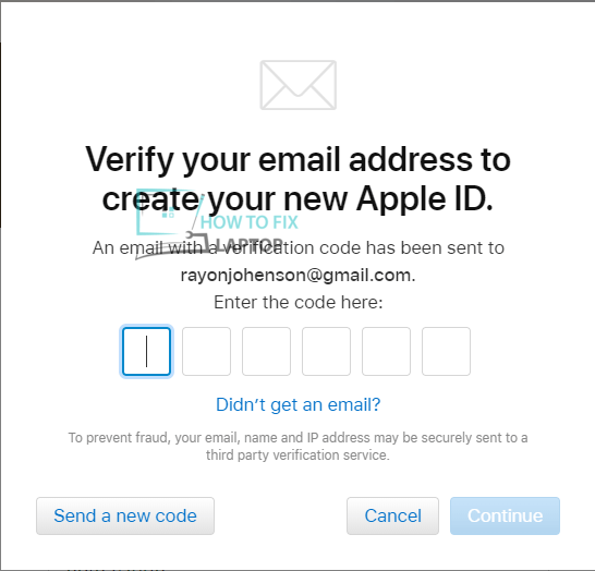 Verify Your Apple ID Account CODE.