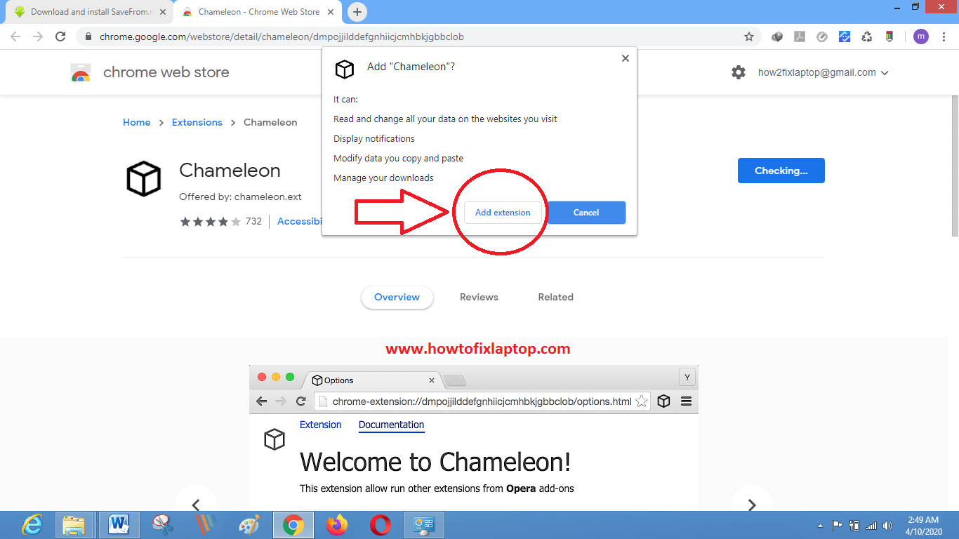 Chameleon extension howtofixlaptop.com