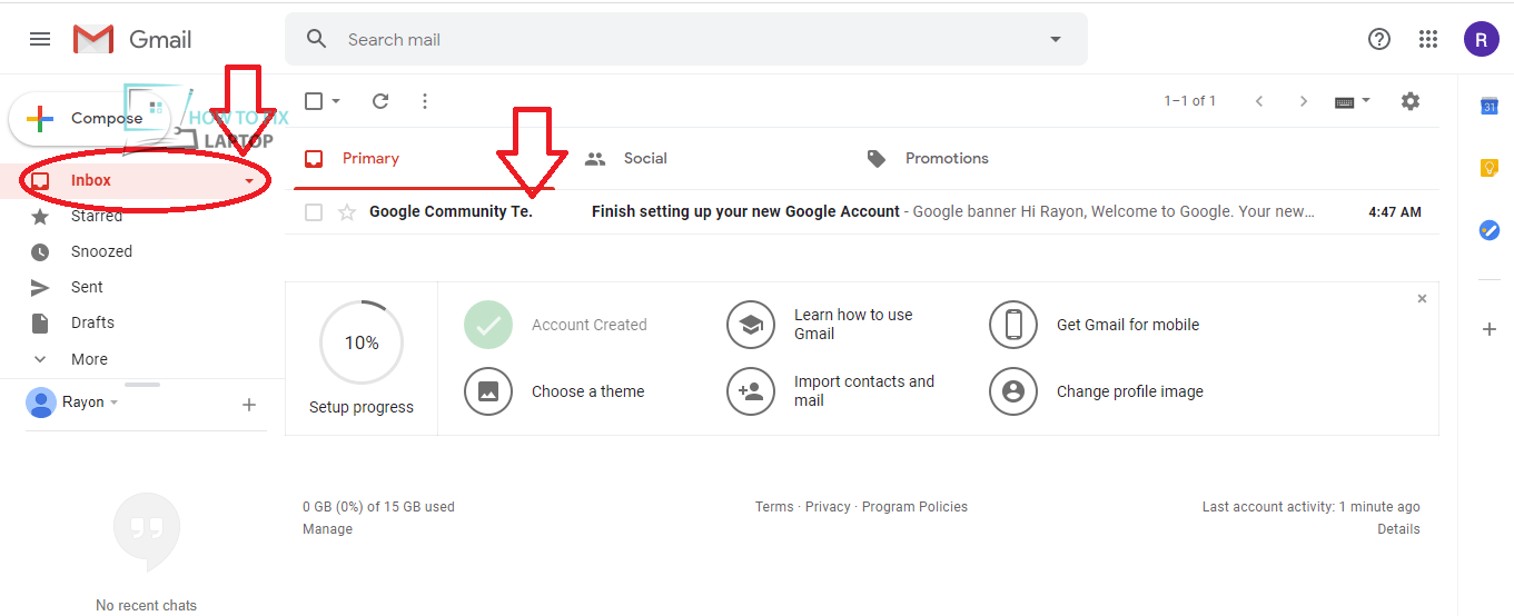 Check you Emails in Google Account/Gmail Account Inbox