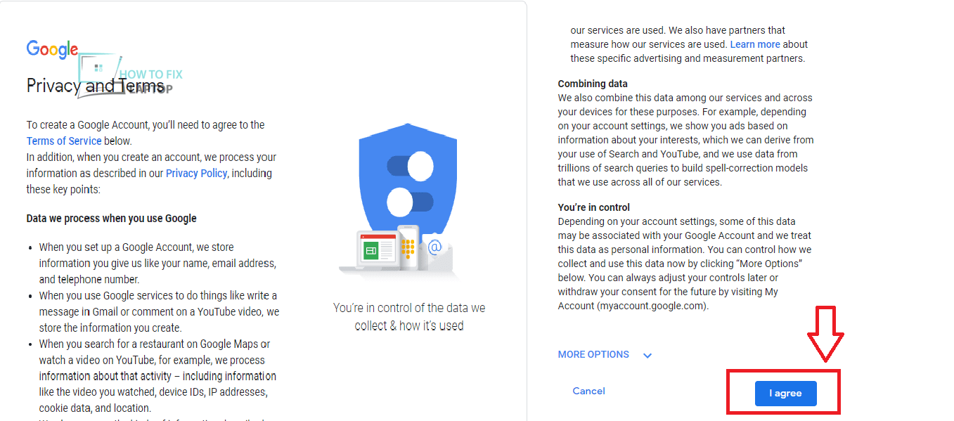 Google Account Privacy and Terms