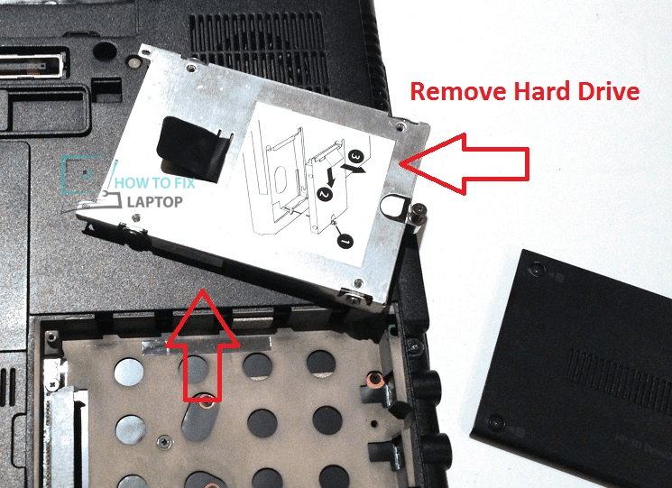 Remove SATA Hard Drive, fix a dead laptop that shows no sign of life.