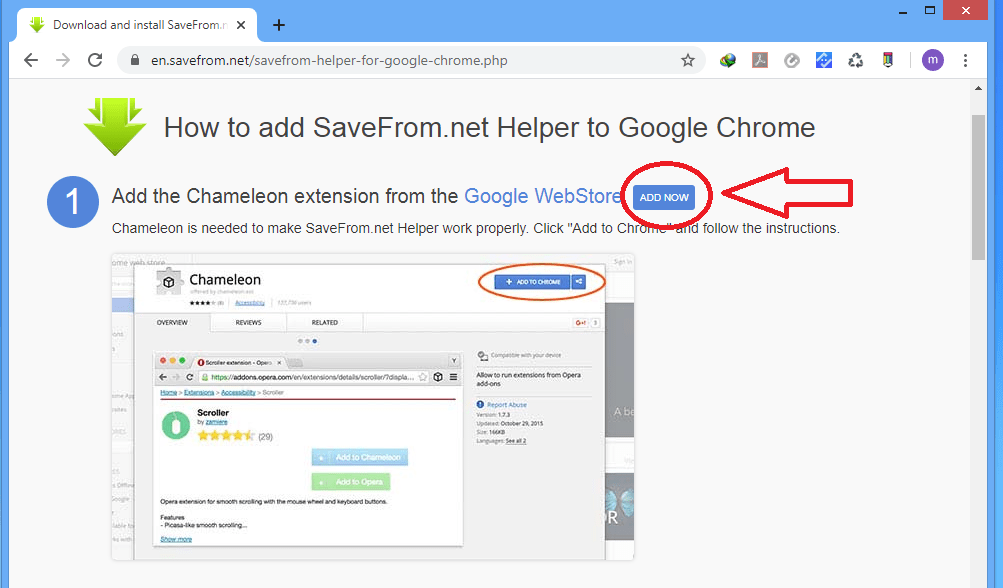 Google Chrome Extension for YouTube videos download