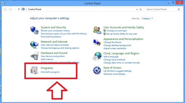 Uninstall Programs in Control Panel
