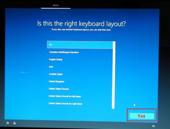 Windows keyboard layout