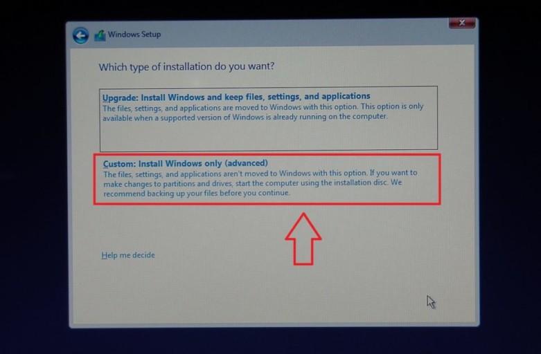 Custom Installation Windows Only