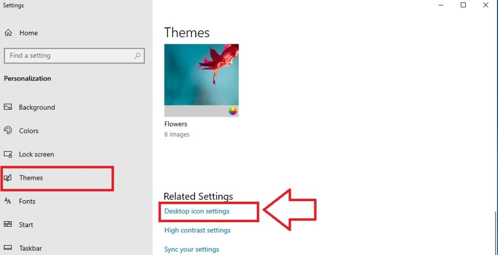 Desktop Icon Settings Theme
