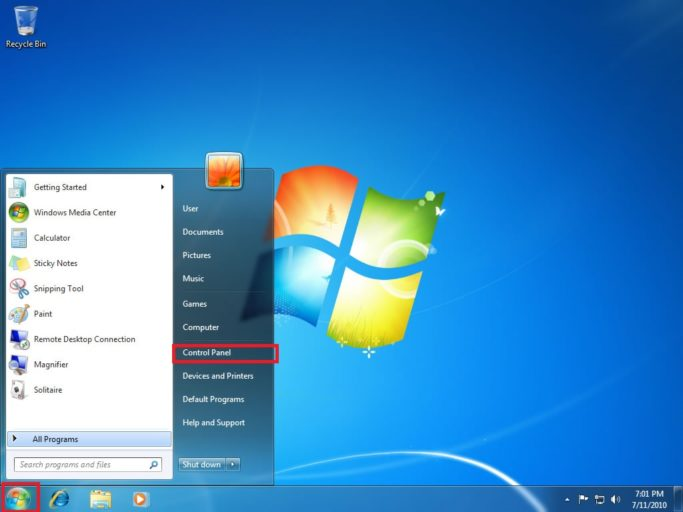 Windows 7 Uninstall Programs in Control Panel