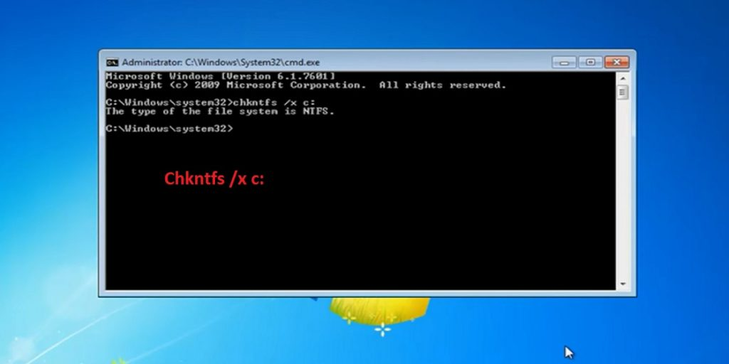 Windows 7 cmd disable chkdsk
