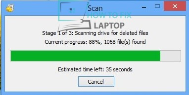 Data recovery software found 1068 files — How to fix laptop