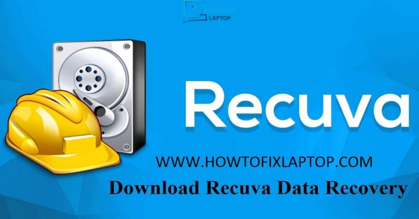 Recuva data recovery - How to fix laptop