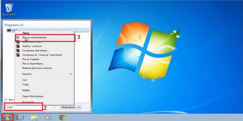 Windows 7 Start button menu