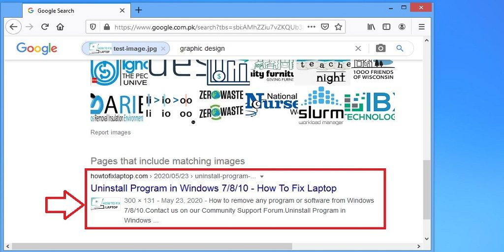 Google image search in Chrome