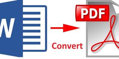 Convert Word to PDF